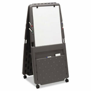 Presentation Easel dry erase Surface 33 x73 charcoal Gray Ice30237