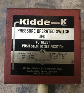 Kidde Pressure Operated Switch 3pdt