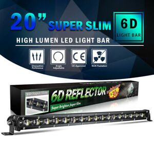Slim 20inch 1200w Led Work Light Bar Singal Row Driving Lamp For Ute Atv Suv 4wd