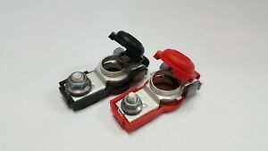 Car Battery Terminal Clamp Set Positive Negative With Protection Covers