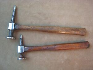 2 Vintage Blue Point Snap On No Bf603 Bf611 Long Pick Shrinking Auto Body Hammer