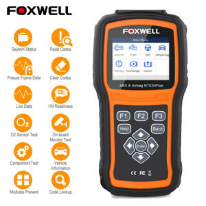 Foxwell Nt630 Obd2 Scanner Abs Srs Airbag Reset Diagnostic Tool Obd2 Code Reader