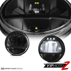 Built In Led Low High Beam For 07 18 Jeep Wrangler Jk Black Headlight Lamp Set