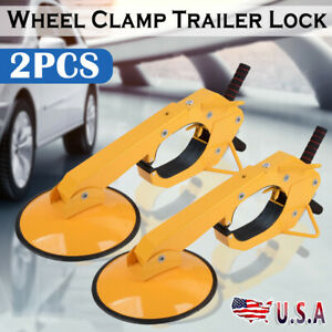 2pcs Wheel Tire Boot Lock Clamp Claw For Car Rv Boat Truck Trailer Anti Theft Us