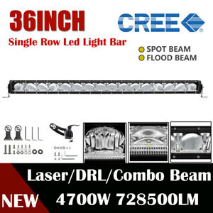 Single Row 36inch 37 4700w Slim Led Work Light Bar Laser Drl Spot Flood Combo