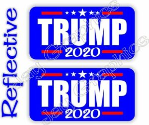 REFLECTIVE Hard Hat Stickers | TRUMP 2020 | USA President Election Voting Decals