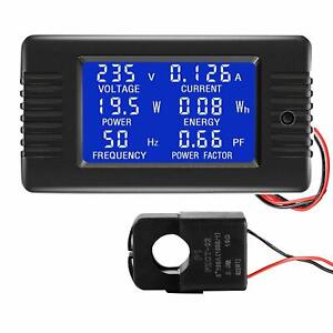 Ac Multimeter 260v100a Amp Volt Watt Power Energy Frequency Factor Split Sensor