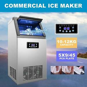 Portable Auto 300w Commercial Ice Maker 45 Ice Cube 110lb 24h For Restaurant Bar