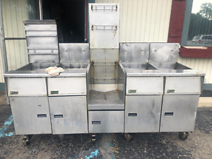 Pitco Sgh 50 Fryer Station W Filtration Instant Recovery Restaurant Detroit