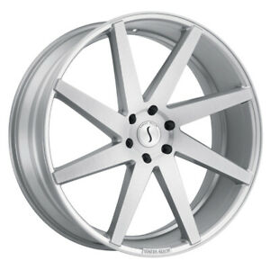 Status Brute 22x9 5 5x120 Offset 30 Silver With Brushed Machine Face qty Of 4