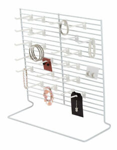 9 Countertop Peg Earring Displays Carded Wire Racks Jewelry Card Hanging 18 X 20