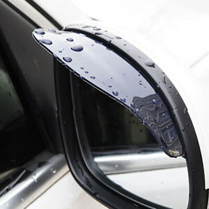 Universal Car Rear View Side Mirror Eyebrow Black Guard Cover Car Accessories X2