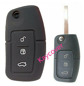 Black Flip Car Key Cover Suits Ford Fiesta Focus Mondeo Xr6 Territory Falcon