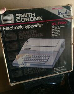 Smith Corona Electronic Typewriter Xl 1700 W Original But X And Manual Free S