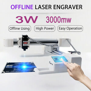 3000mw Desktop Laser Engraver Engraving Carving Machine Diy Logo Touch Screen
