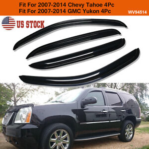 For 2007 2014 Chevy Tahoe Gmc Yukon Smoke Window Visor Sun Rain Guard Vent Shade