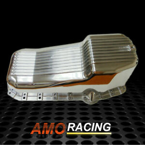 Finned Polished Aluminum Oil Pan Fit 80 85 Small Block Sbc Chevy 305 327 350 5 7