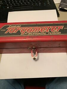 Vtg Snap on Tools Torqometer 1 2 Drive 0 1600 In lbs W original Steel Box