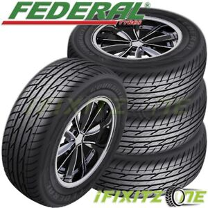 4 New Federal Couragia Xuv P225 65r17 102h All Season Suv Touring Highway Tire