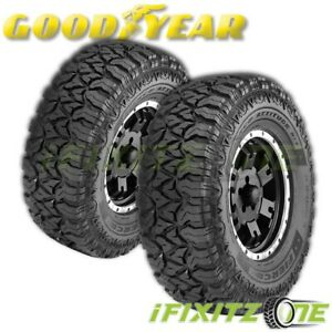 2 Goodyear Fierce Attitude M T Mud Tires Lt245 75r16 120p On Off Road M S Rated