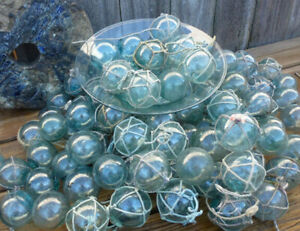 Vtg Japanese Glass Fishing Floats 100 2 With Without Net Free Shipping