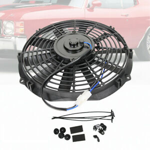 Universal Slim 12inch Push Pull Electric Radiator Cooling Fan Truck Straight 12v