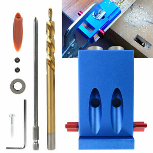 Pocket Hole Jig Kit System Wood Working Joinery Tool Set W Step Drill Bit 9 5mm