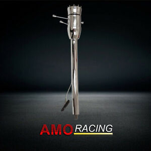Chrome Column 32 Tilt Manual Steering Column W Adapter No Key Fits Gm Hot Rod