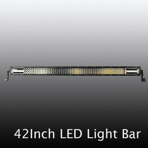 Dual Colour 42inch Led Light Bar 2592w Driving Offroad Flood Spot Combo Beam