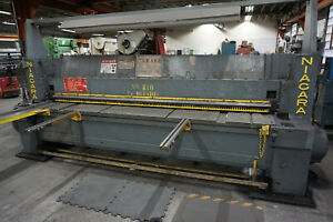 Niagara Shear model 810 1 4 X 10 Mild Steel Mechanical 3 Phase