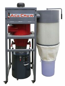 Acecrew Cyclone Dust Collector 1 5hp 120vac Single Phase 6 Inlet Ac 100