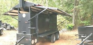Iron Hog Bbq Barn Door Smoker Trailer W Roof Food Truck Business Catering Ribbox