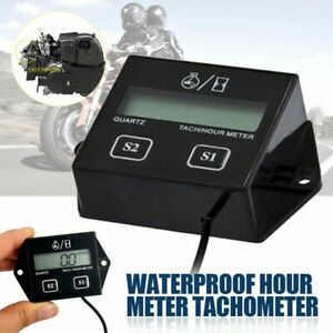 Tiny Tach Digital Hour Meter Tachometer For Marine Spark Mower Engine Motor