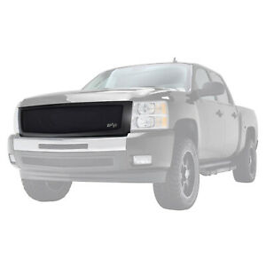 Fits 2007 2013 Chevy Silverado 1500 Grille Black Stainless Steel Replacement
