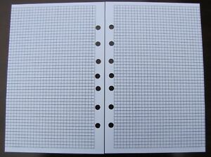 Quad Ruled Pages Refill For A5 7 ring Planner Organizer Insert