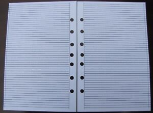 Ruled Pages Refill For A5 7 ring Planner Organizer Insert