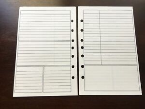 Notes Undated Refill For A5 7 ring Planner Organizer Insert