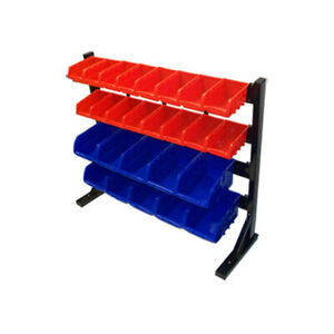 Parts Accessories Rack Storage Shelf Organizer Bench Top With 26 Removable Bins