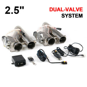 22 5 Inch 63mm Exhaust Control E Cut Out Dual Valve Electric Y Pipe With Remote