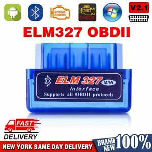 Elm327 Obd2 Code Reader Scanner V2 1 Bluetooth 2019 New Interface For Android