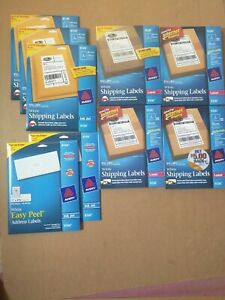 Lot Of 9 Package Avery 5126 8126 8160 Shipping Address Labels
