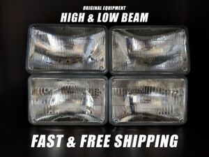 Oe Front Headlight Bulb For Audi 4000 Quattro 1984 High Low Beam Set Of 4