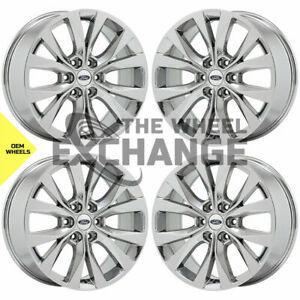 20 Ford F150 Truck Pvd Durachrome Chrome Wheels Rims Factory Oem Set 4 10003