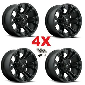 20x10 8x180 Matte Black Wheels Rims Fuel D560 Vapor 2500 3500 Hd 20