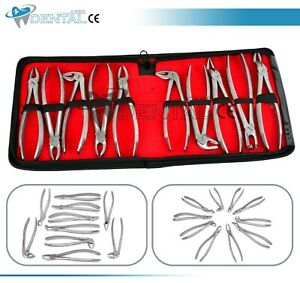 Tooth Extraction Forceps Surgical Dental Instruments Dentist Surgery Tools Kit