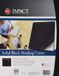 Opaque Plastic Presentation Binding System Covers 11 X 8 1 2 Black 50 pack New