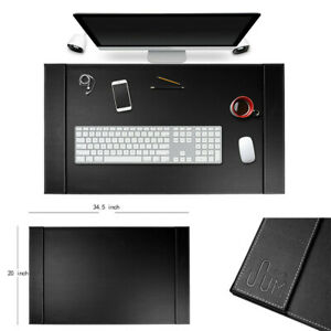 34 X 20 Premium Leather Home Office Table Desk Pad Non Slip Gaming Mouse Mat