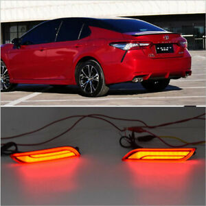 Newest Car Led Rear Bumper Light Warning Brake Tail Lamp For Toyota Camry 2018