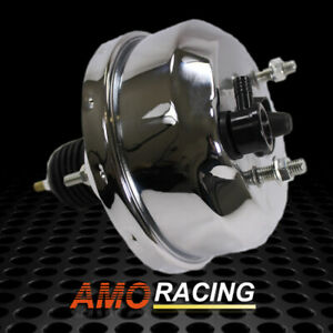 Chrome Plated 7 Single Diaphragm Power Brake Booster Fit Chevy Ford Street Rod