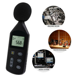 Digital Sound Level Meter Audio Decibel Noise Tester 30 130dba A C Frequency